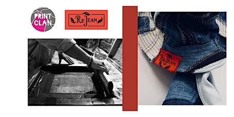 Print Clan X ReJean Denim present MAKE & PRINT A DENIM TOTE BAG tickets