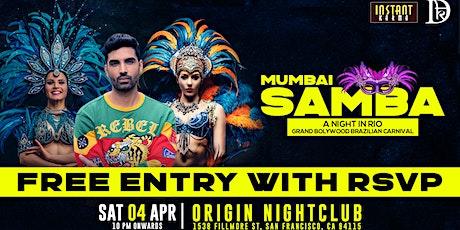 MUMBAI SAMBA - A Grand Bollywood  Brazilian Carnival with India's DJ Dharak tickets