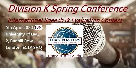 Toastmasters Division K Spring Conference 2020 tickets
