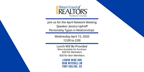 WCR April Network Meeting 2020 tickets