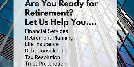 Are you READY for Retirement? Learn more about your 401k & IRA Accounts! tickets