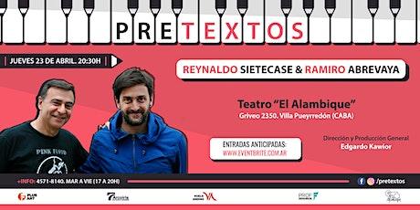 Pretextos en El Alambique con Reynaldo Sietecase y Ramiro Abrevaya entradas