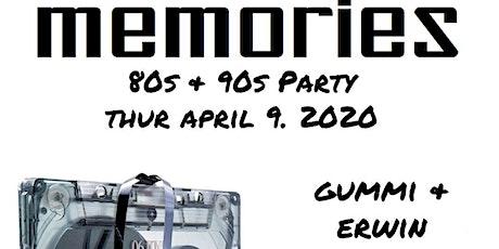 Memories 80s & 90s - Old School Party tickets