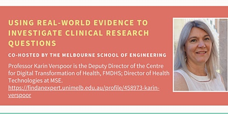 Using real-world evidence to investigate clinical research questions tickets