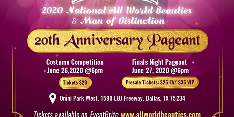 2020 AWB/MOD Costume & Optional Competition tickets
