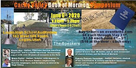 Cache Valley Book of Mormon Symposium tickets