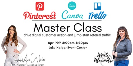 Pintrest, Canva and Trello Master Class tickets