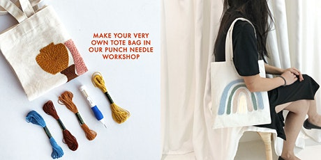 Thread Painting Punch Needle Workshop (On Tote Bag) tickets