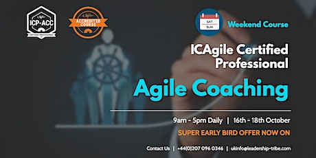 Agile Coaching (ICP-ACC) | Weekend Course | London | October 2020 tickets