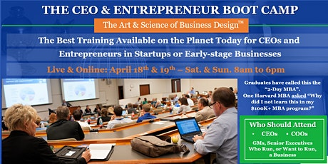 The CEO & Entrepreneur Boot Camp tickets