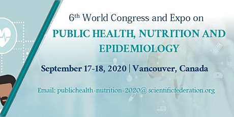 6th world congress & Expo on Public health, Epidemiology & Nutrition tickets