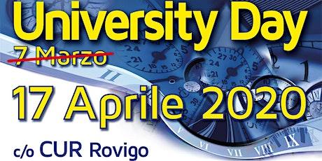 University Day  Cur di Rovigo biglietti