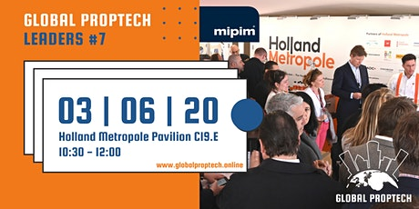 Global PropTech Leaders 7th edition (MIPIM Cannes 2020) billets