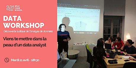 Data Workshop : Viens te mettre dans la peau d'un data analyst tickets
