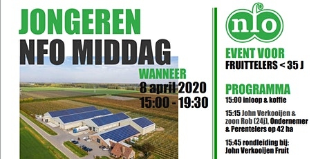 Jongeren NFO middag 8 april 2020 tickets
