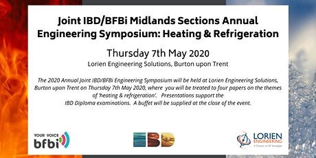 'Heating & Refrigeration' - Joint BFBi & IBD Midland Engineering Symposium tickets