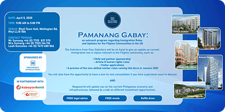 PAMANANG GABAY :  Immigration 101 sa RHYL tickets