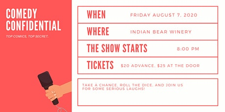 Comedy Confidential at Indian Bear Winery tickets