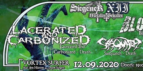 Siegener Metaller Geballer XII - Lacerated and Carbonized & Bloodspot & Sasquatch & Psychotool Tickets