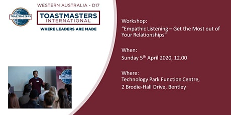 Empathic Listening for Better Relationships tickets