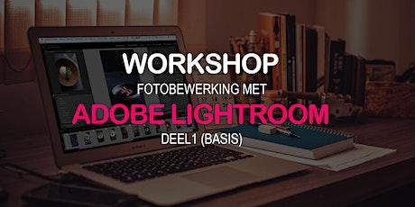 Workshop Fotobewerking met Lightroom (deel1:basis) tickets