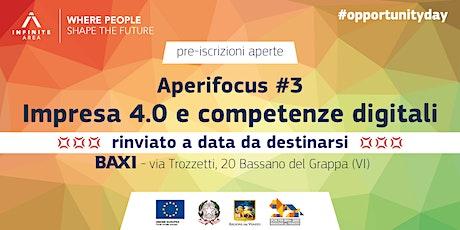 Aperifocus #3 - Impresa 4.0 e competenze digitali biglietti