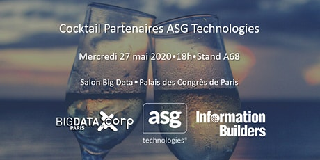 Cocktail Partenaires ASG Technologies @ Big Data Paris tickets