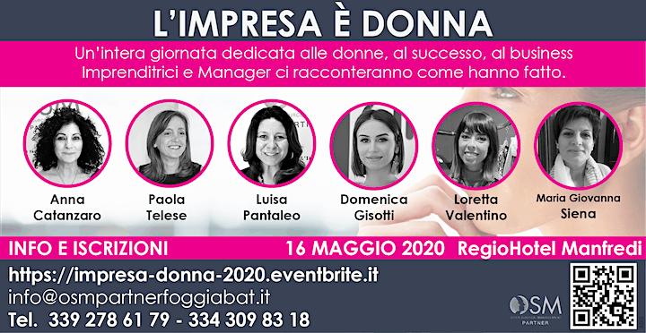 Immagine L'Impresa è DONNA 2020 Puglia Molise Abruzzo  MARZO 2021