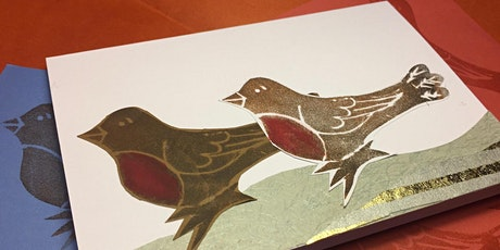 Printmaking for Christmas tickets