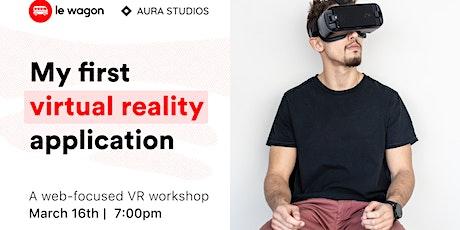 My first virtual reality application bilhetes