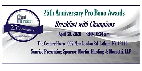 Breakfast with Champions - Pro Bono Awards tickets