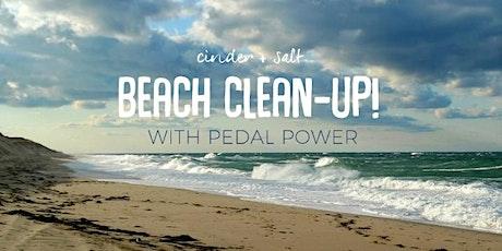cinder + salt Beach Clean-Up @ Hammonasset with Pedal Power tickets