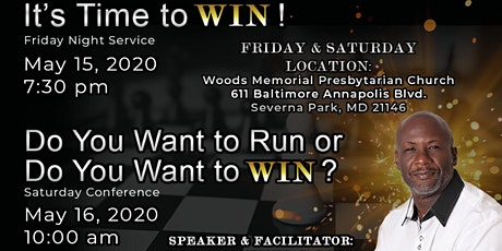 RCG Ministries Presents It's Time to Win Conference tickets