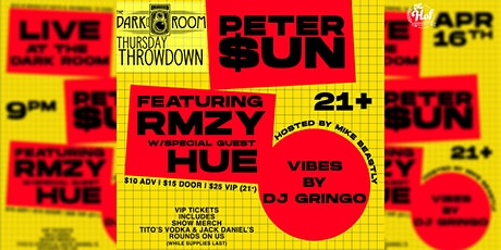 Thursday Throwdown: WeAreVA Presents Peter $un/RMZY/Hue/DJ Gringo tickets