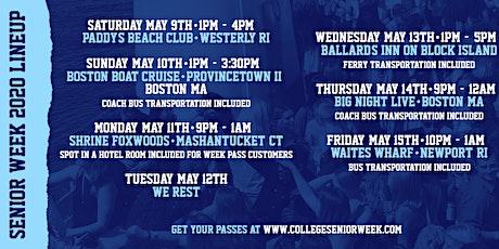 Senior Week 2020 tickets