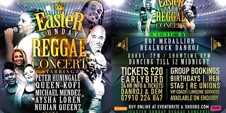 EASTER  Sunday REGGAE Concert tickets