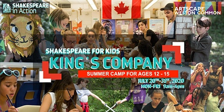 Shakespeare for Kids Summer Camp 2020 - King's Company (ages 12-15) tickets
