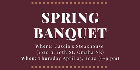 PLS Spring Banquet 2020 - Faculty Ticket tickets