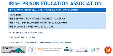Liam Minihan Lecture 2020 - Families and Imprisonment tickets