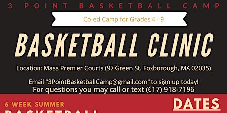 Youth Basketball Clinic| Grades 4-9| Boston| July 2020 tickets