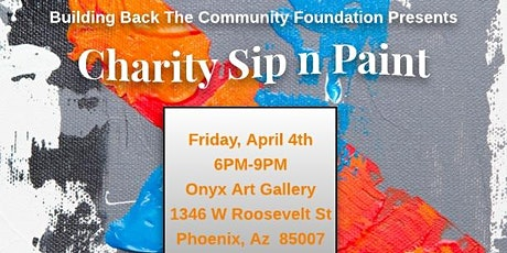Charity Sip N Paint Event tickets