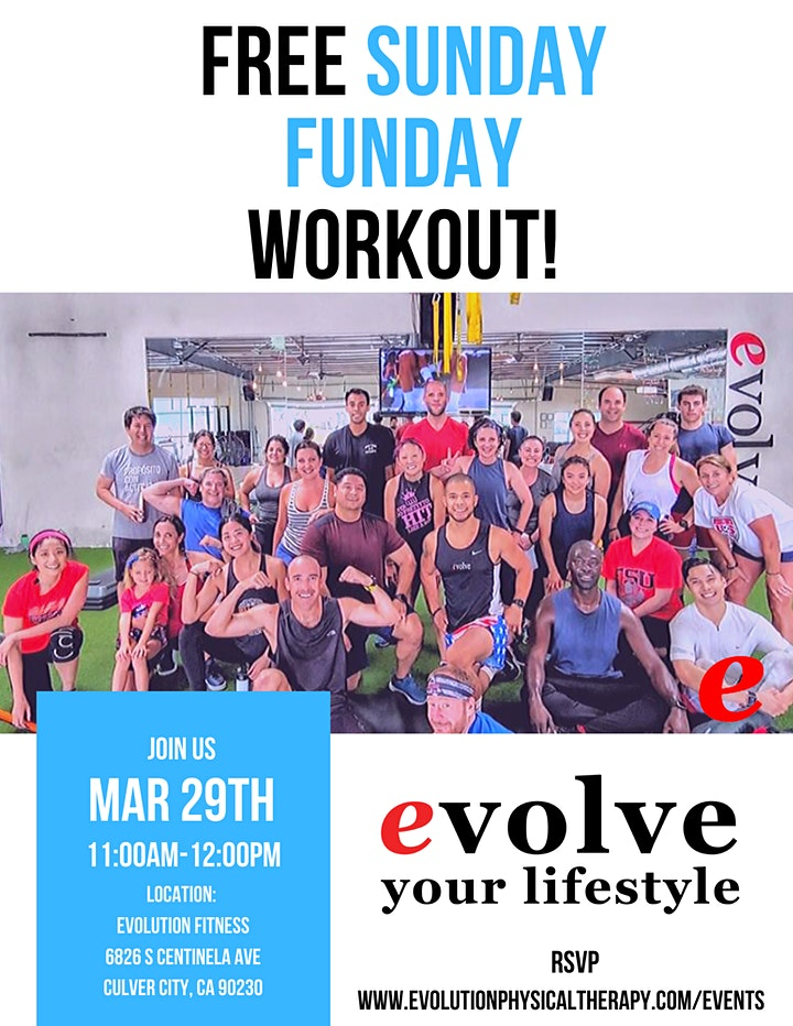 Sunday Funday Free Community Workout   Playa Vista image