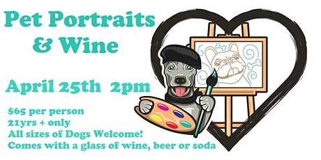Paint Your Pet's Portrait + Wine tickets