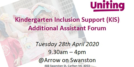 Kindergarten Inclusion Support (KIS) Additional Assistant Forum tickets
