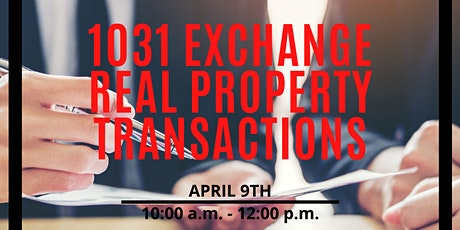 1031  Exchange Real Property Transactions - CE Class tickets