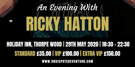 An Evening With Ricky Hatton tickets