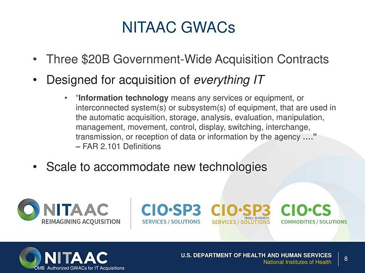 NITAAC/Industry CIO-SP4 Virtual Breakfast Chat hosted by GovCon Club image