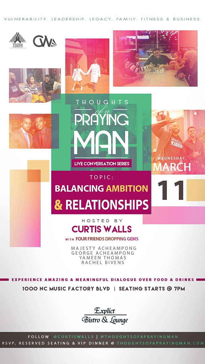 Thoughts Of A Praying Man: LIVE Series - Balancing Ambition & Relationships image