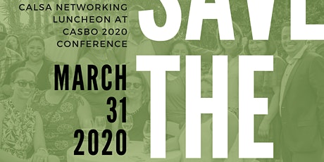 CALSA Networking Luncheon at CASBO 2020 Conference tickets