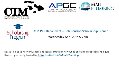 CIM Pau Hana Event, Wednesday April 29th 5-7pm tickets